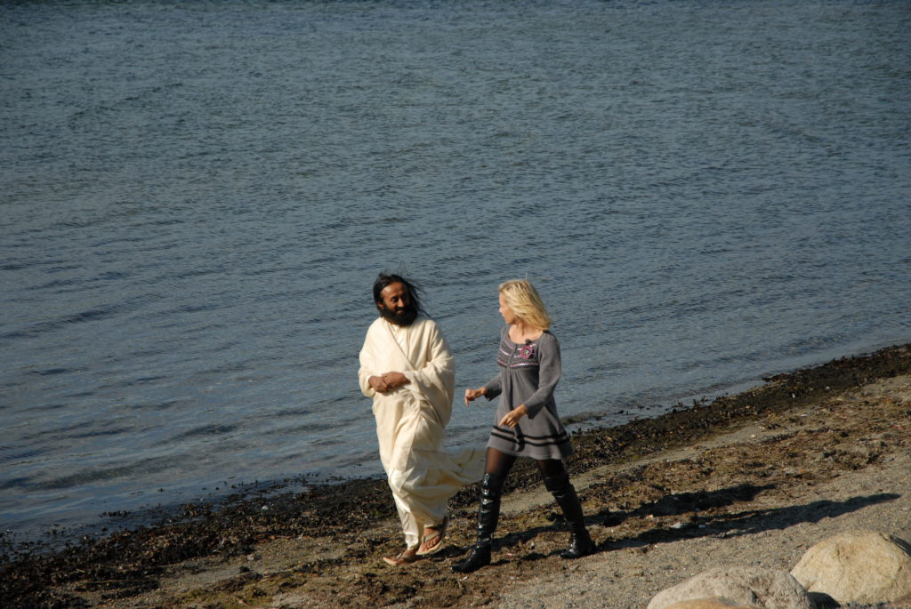 Monica og Ravi Shankar